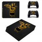 Mona lisa with bazooka decal skin sticker for PS4 Pro console and controllers