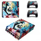 Marilyn Monroe decal skin sticker for PS4 Pro console and controllers
