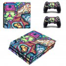 Hippie wallpaper decal skin sticker for PS4 Pro console and controllers