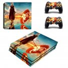 Anime water umbrella decal skin sticker for PS4 Pro console and controllers