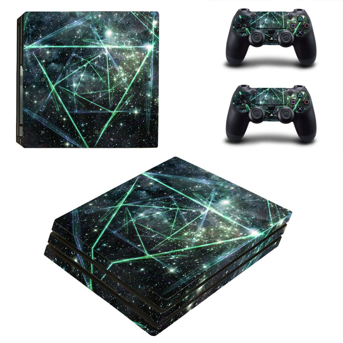 Galaxy stars decal skin sticker for PS4 Pro console and controllers