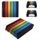 Colorful Columns decal skin sticker for PS4 Pro console and controllers