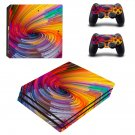 Spiral pattern decal skin sticker for PS4 Pro console and controllers
