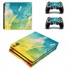 Painted Clipart decal skin sticker for PS4 Pro console and controllers