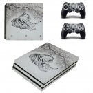 Tiger Clipart decal skin sticker for PS4 Pro console and controllers