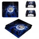 Manchester City decal skin sticker for PS4 Slim console and controllers