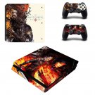 The Witcher wild hunt decal skin sticker for PS4 Slim console and controllers