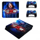 WwE 2K19 decal skin sticker for PS4 Slim console and controllers