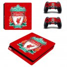 Liverpool FC decal skin sticker for PS4 Slim console and controllers