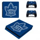 Toronto Maple Leafs decal skin sticker for PS4 Slim console and controllers
