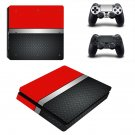 Metal floor decal skin sticker for PS4 Slim console and controllers
