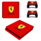 Ferrari decal skin sticker for PS4 Slim console and controllers