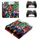 Super Heroes decal skin sticker for PS4 Slim console and controllers