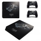 Game of thrones decal skin sticker for PS4 Slim console and controllers