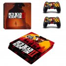 Red Dead Redemption 2 decal skin sticker for PS4 Slim console and controllers