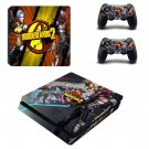 Borderlands 2 decal skin sticker for PS4 Slim console and controllers