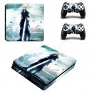 Final Fantasy 7 decal skin sticker for PS4 Slim console and controllers