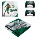 Boston Celtics decal skin sticker for PS4 Slim console and controllers