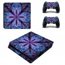 Floral Leaf decal skin sticker for PS4 Slim console and controllers