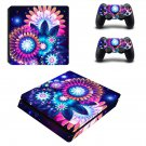 Artificial flower decal skin sticker for PS4 Slim console and controllers