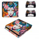 Floral girl decal skin sticker for PS4 Slim console and controllers