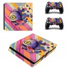 Trippy paintings decal skin sticker for PS4 Slim console and controllers