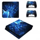 Tech wallpaper decal skin sticker for PS4 Slim console and controllers