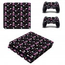 Chanel Rouge Coco decal skin sticker for PS4 Slim console and controllers
