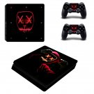 Purge mask led decal skin sticker for PS4 Slim console and controllers