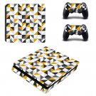 Traingle wallpaper decal skin sticker for PS4 Slim console and controllers