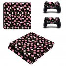 Floral Pattern decal skin sticker for PS4 Slim console and controllers