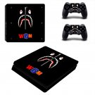 Bape Shark decal skin sticker for PS4 Slim console and controllers