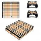 Tartan decal skin sticker for PS4 Slim console and controllers
