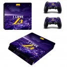 Los Angeles Lakers decal skin sticker for PS4 Slim console and controllers