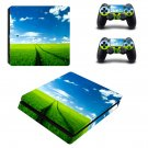 Natural wallpaper decal skin sticker for PS4 Slim console and controllers