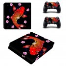 Floral fish decal skin sticker for PS4 Slim console and controllers