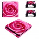 Nice Rose decal skin sticker for PS4 Slim console and controllers