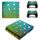 Clipart decal skin sticker for PS4 Slim console and controllers