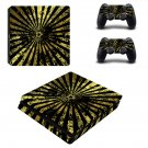 Pentagram design decal skin sticker for PS4 Slim console and controllers