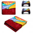 Ride the rainbows decal skin sticker for PS4 Slim console and controllers