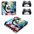 Marilyn Monroe decal skin sticker for PS4 Slim console and controllers