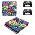 Hippie wallpaper decal skin sticker for PS4 Slim console and controllers