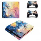 Painted Clipart decal skin sticker for PS4 Slim console and controllers