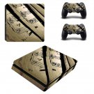 Music sheet decal skin sticker for PS4 Slim console and controllers