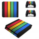 Colorful Columns decal skin sticker for PS4 Slim console and controllers