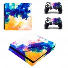 Colors flames decal skin sticker for PS4 Slim console and controllers
