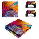 Spiral pattern decal skin sticker for PS4 Slim console and controllers