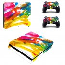 Colorful paint decal skin sticker for PS4 Slim console and controllers
