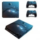 Galaxy Planet decal skin sticker for PS4 Slim console and controllers