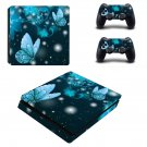 Butterflies decal skin sticker for PS4 Slim console and controllers
